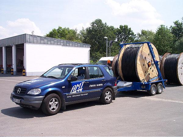 Kabeltrommel-Transport