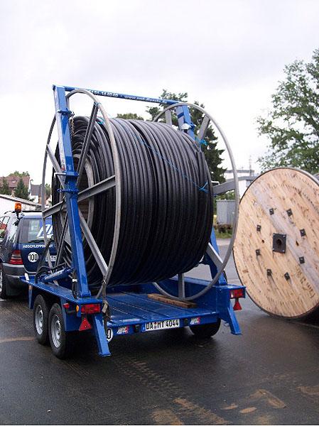 PE-Rohr Trommel 3mØ - Transport