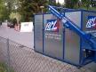 Montagecontainer absetzen