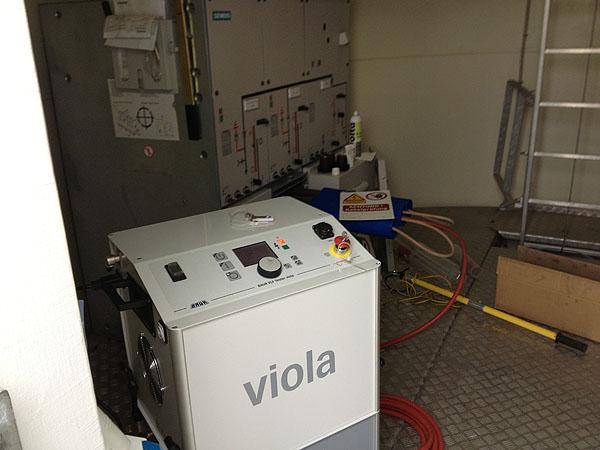 VLF-Prüfung und Mantelfehlerprüfung an Windkraftanlagen