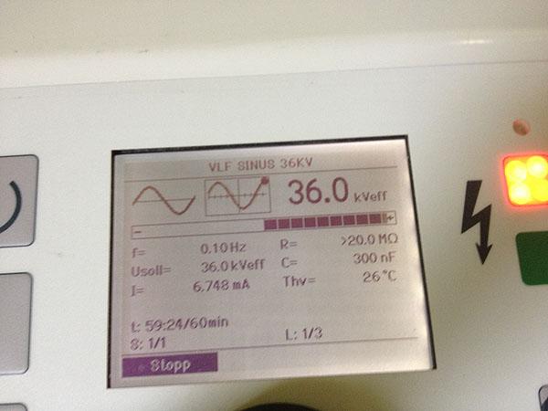 VLF-Prüfung bis 60kV