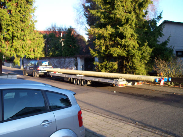 Gas-Rohrtransporte Stahl-PE mit Zement-Umhüllung -2,7T bei 12m Länge