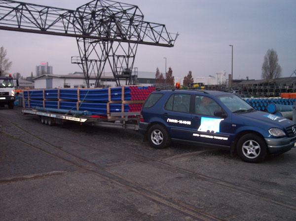 PE-Wasserrohr-Transporte