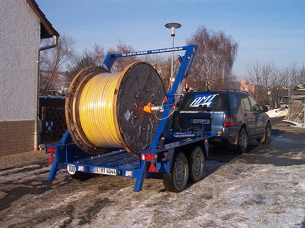 Kabeltrommel-Transport NV-Kabel