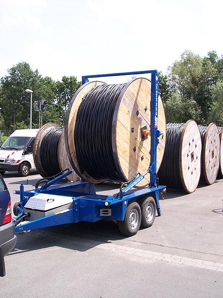 Kabeltrommel-Transport MV-Kabel Selbstlader